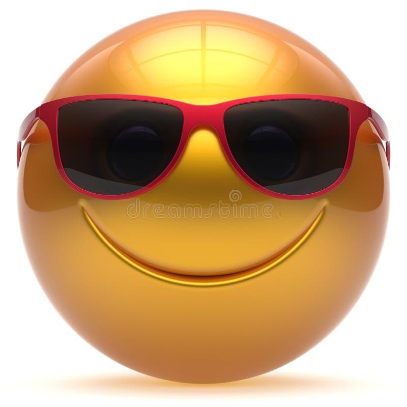 微笑的面孔顶头球快乐的球形意思号动画片染黄 皇族释放例证