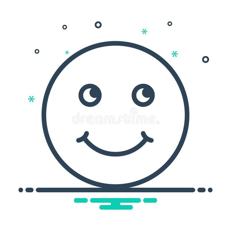微笑的黑混合象,嘲弄并且说笑话 向量例证