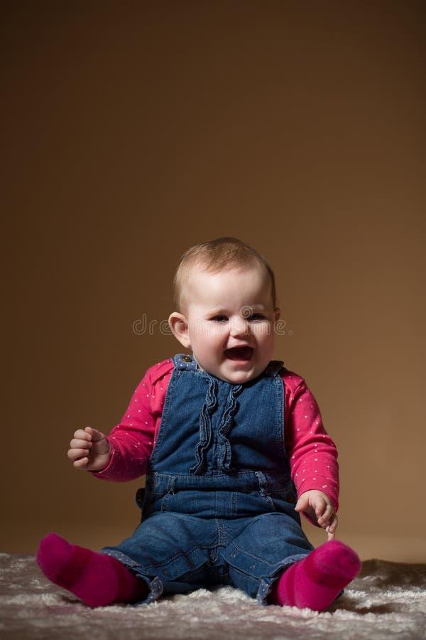 微笑的婴儿婴孩 免版税库存图片