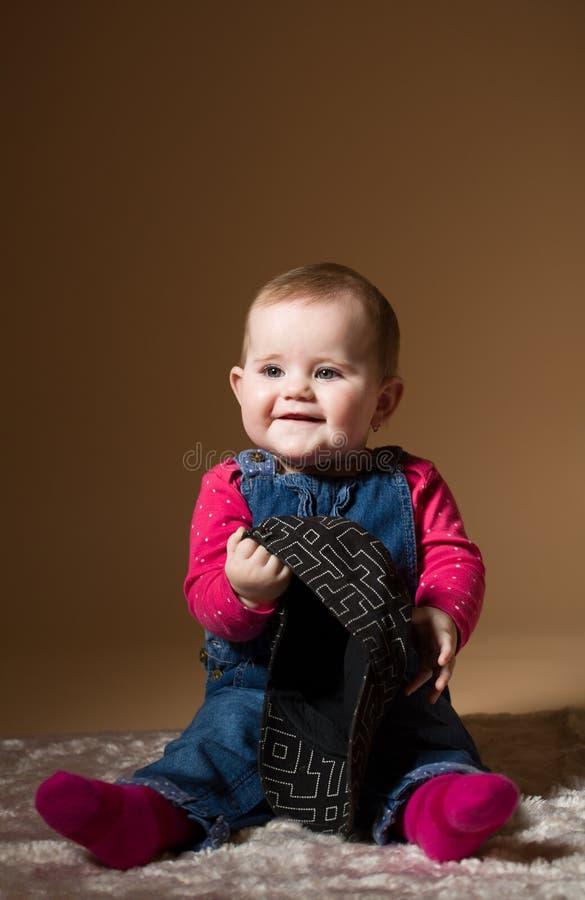 微笑的婴儿婴孩 库存照片