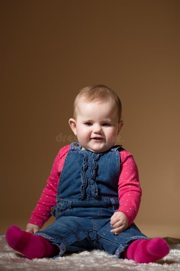 微笑的婴儿婴孩 库存图片