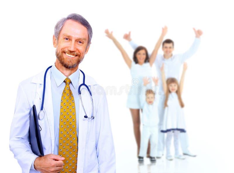 微笑的医生 免版税库存照片