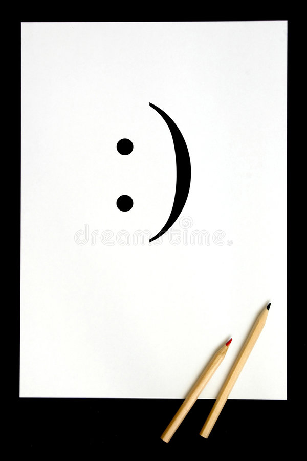 微笑符号 库存照片