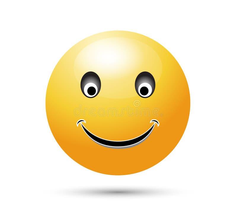 微笑象在白色背景和标志隔绝的传染媒介标志,微笑商标概念象 皇族释放例证