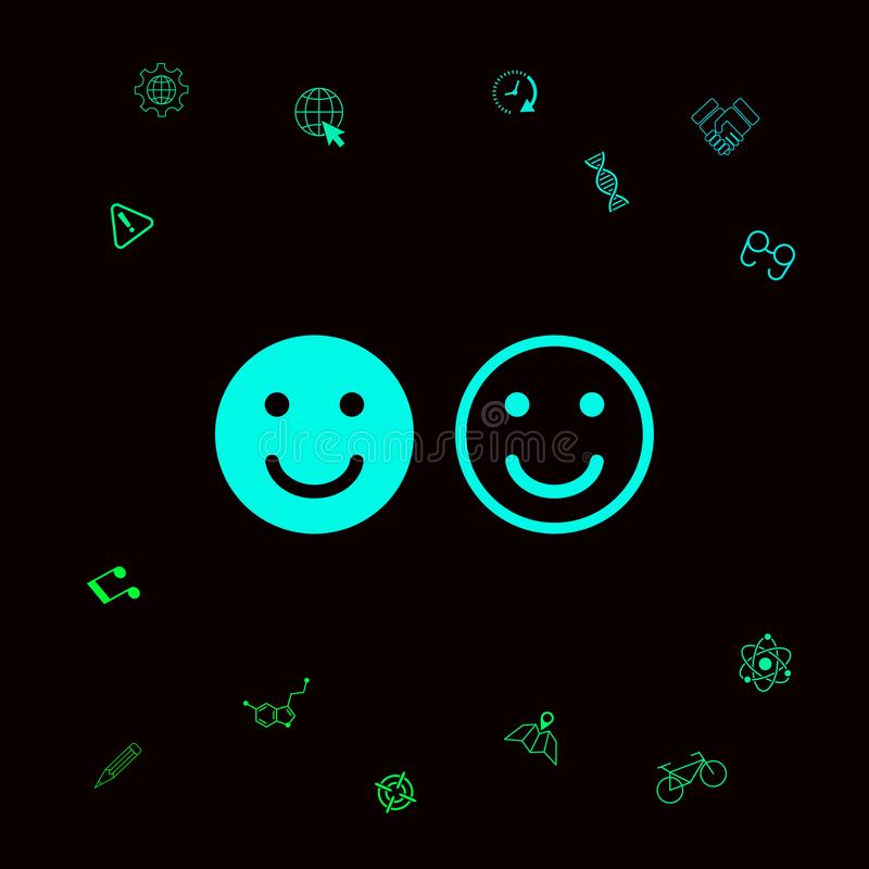 微笑象 您的网站设计的愉快的面孔标志 您的designt的图表元素 皇族释放例证