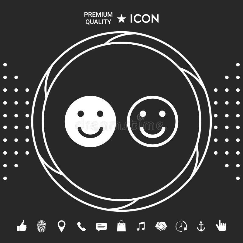 微笑象 您的网站设计的愉快的面孔标志 您的designt的图表元素 库存例证