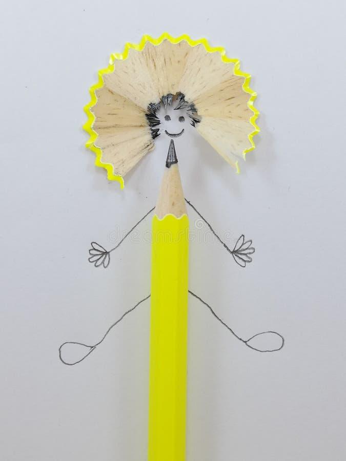 微笑铅笔 免版税库存图片