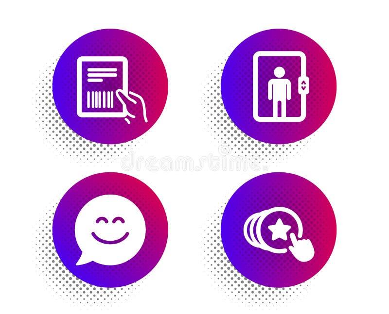微笑闲谈,电梯和小包发货票象集合 举行心脏标志 ?? 库存例证