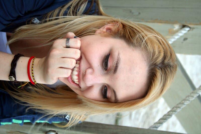 微笑青少年 库存照片