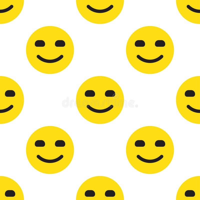 微笑面孔无缝的样式 库存例证