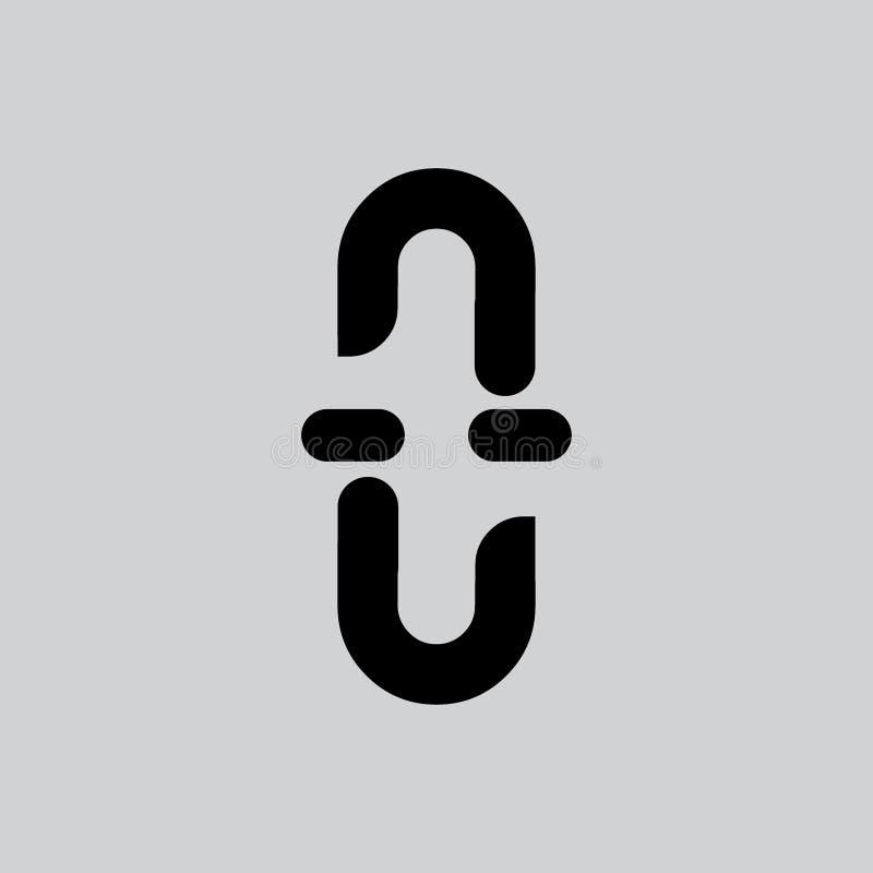 微笑面孔简单的几何线商标传染媒介 库存例证