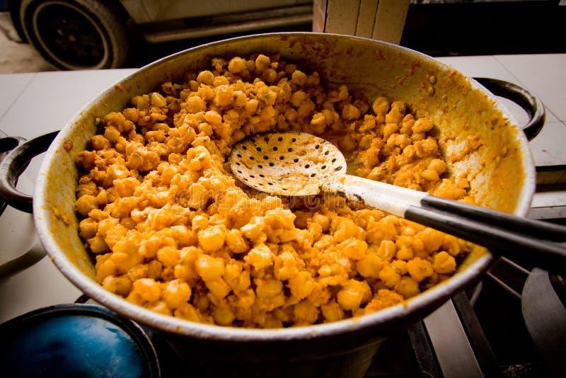 微粒pillo碎玉米粥传统厄瓜多尔食物 库存图片