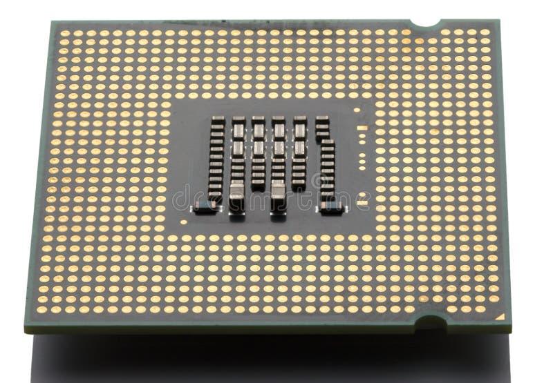 微芯片计算机特写镜头 库存图片