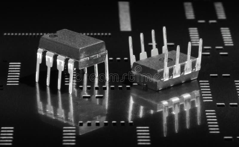 微芯片 图库摄影