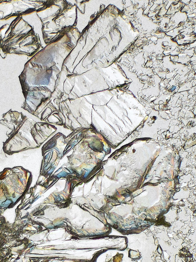 微观的水晶 免版税库存图片