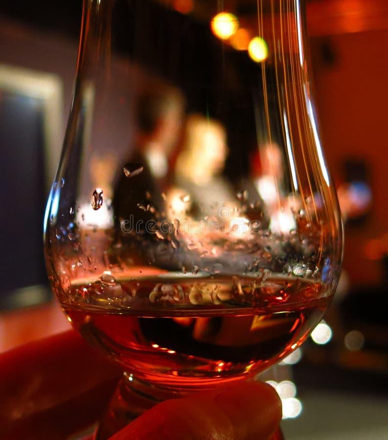 微量苏格兰威士忌酒或科涅克白兰地 库存图片