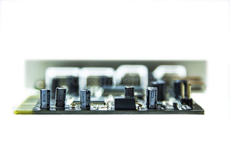 微集成电路和晶体管 库存图片