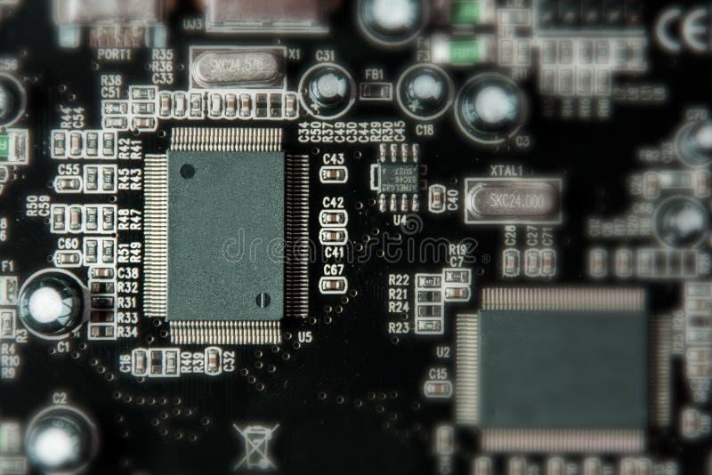 微集成电路和晶体管 图库摄影