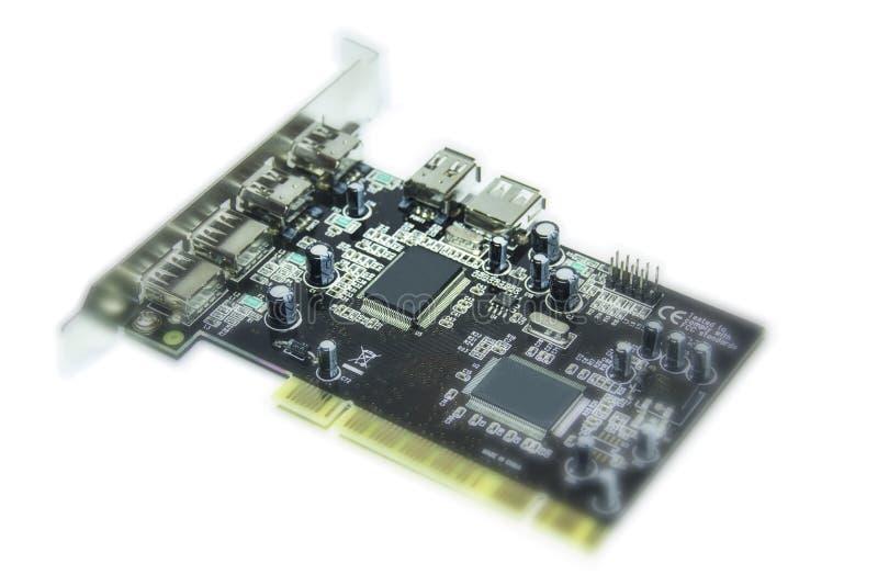 微集成电路和晶体管 免版税库存照片