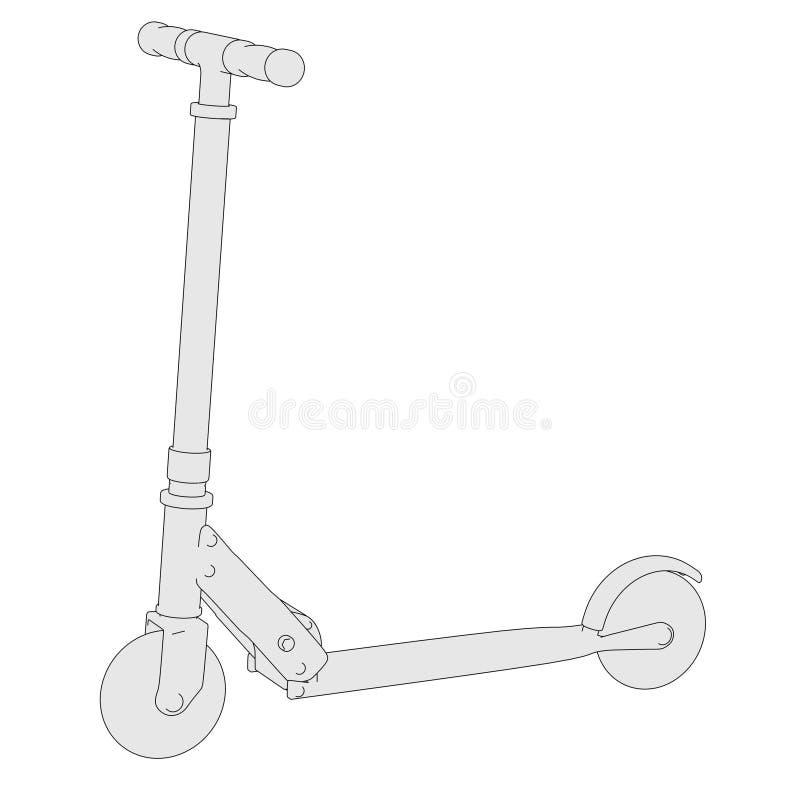 微滑行车的图象 皇族释放例证
