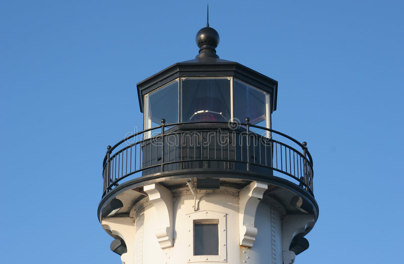 德卢斯灯塔码头 库存照片