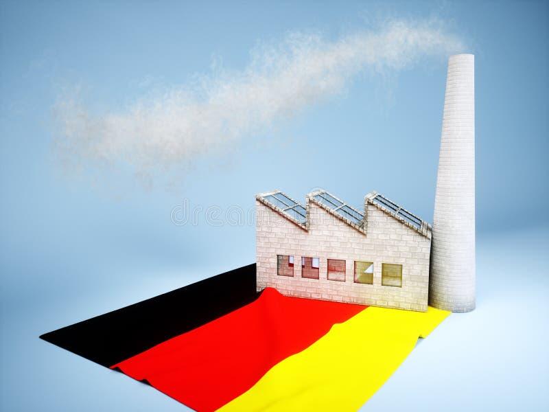 德国产业发展 库存例证