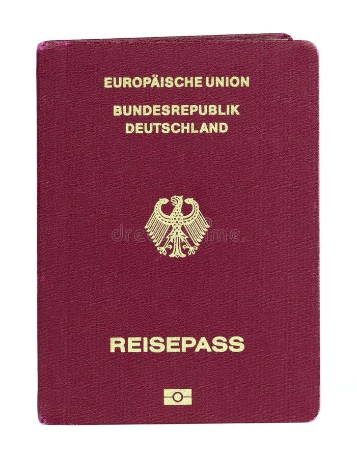 德国人欧盟生物统计的护照 免版税库存图片