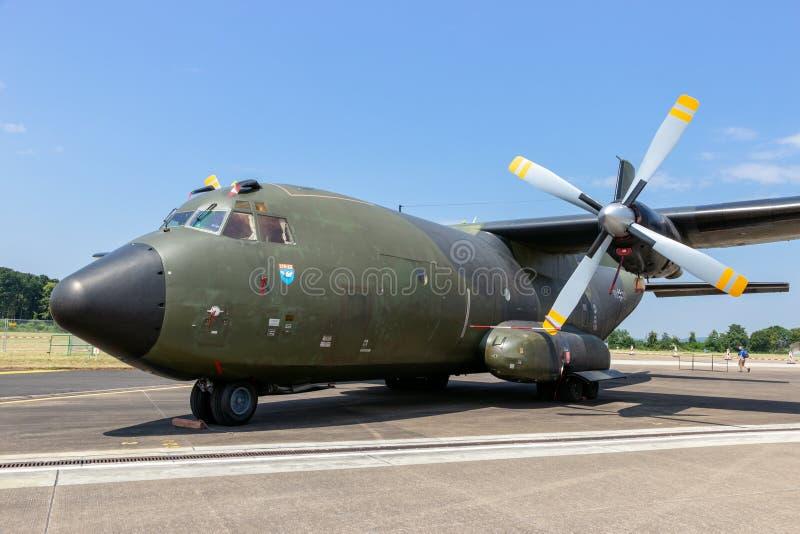 德国人空军队C-160 Transall货机 免版税库存照片