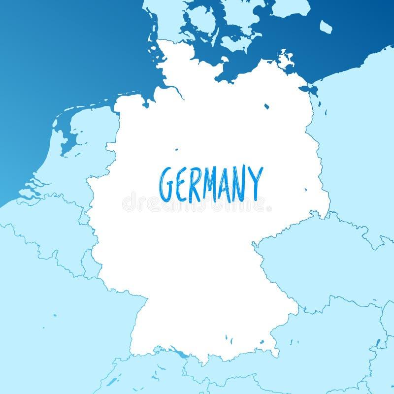 德国地图象 黑剪影传染媒介被隔绝的图象欧洲国家.图片