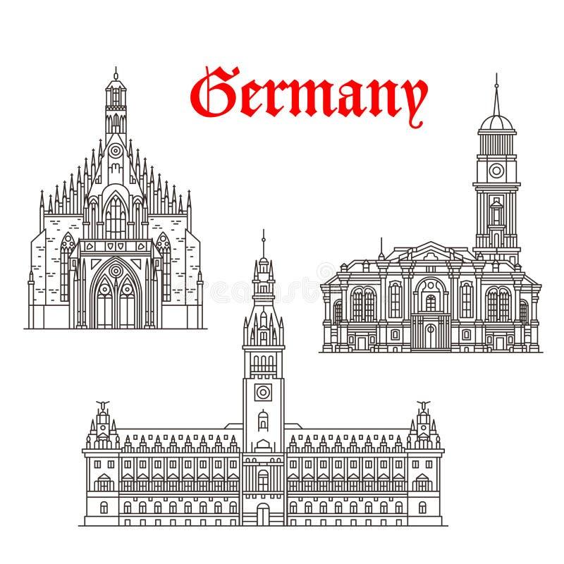 德国传染媒介象建筑学大厦  库存例证