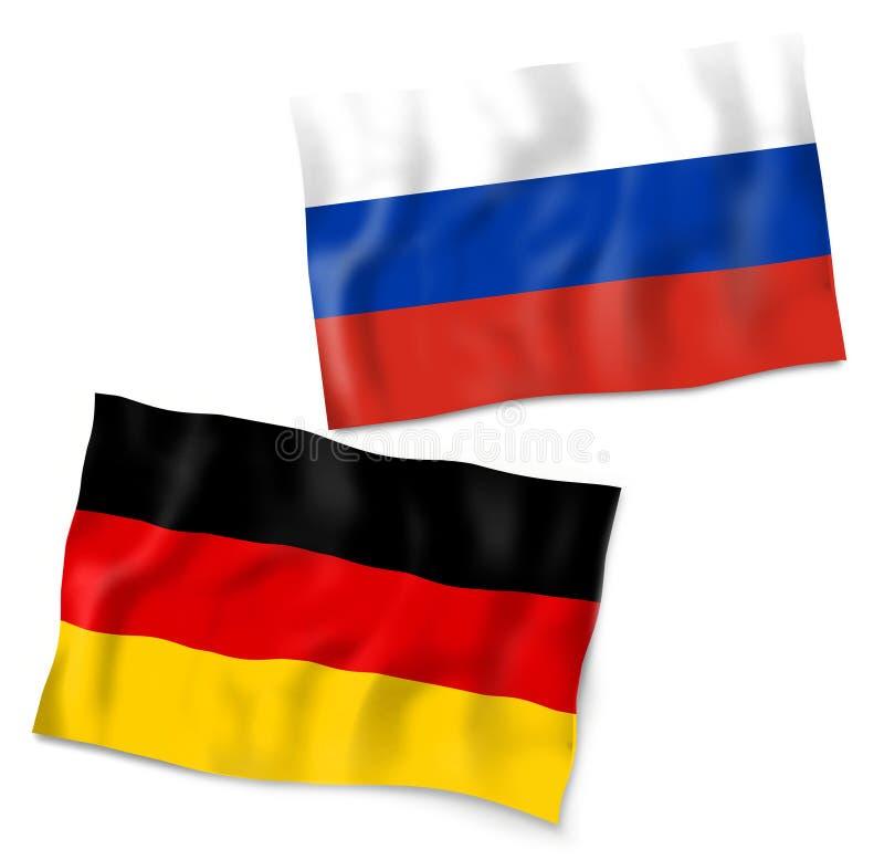 德国俄罗斯旗子设计 库存例证