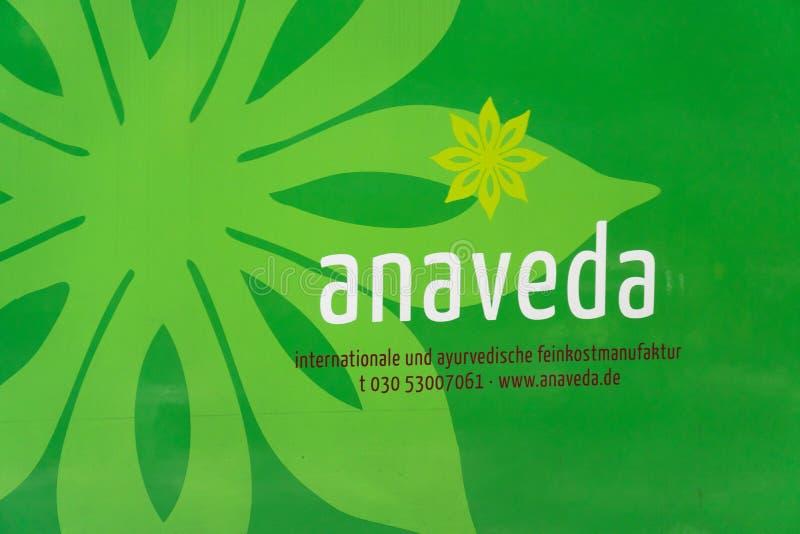 德国公司Anaveda象征 库存照片