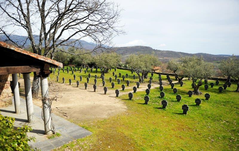德国公墓在Yuste,卡塞里斯,西班牙 免版税库存照片