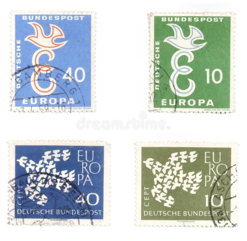 德国和平过帐印花税 库存照片