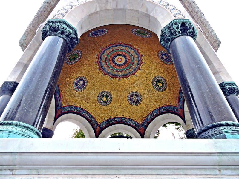 德国喷泉在伊斯坦布尔,土耳其 免版税库存照片