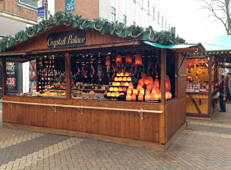 德国圣诞节市场在北安普顿,英国 免版税库存照片