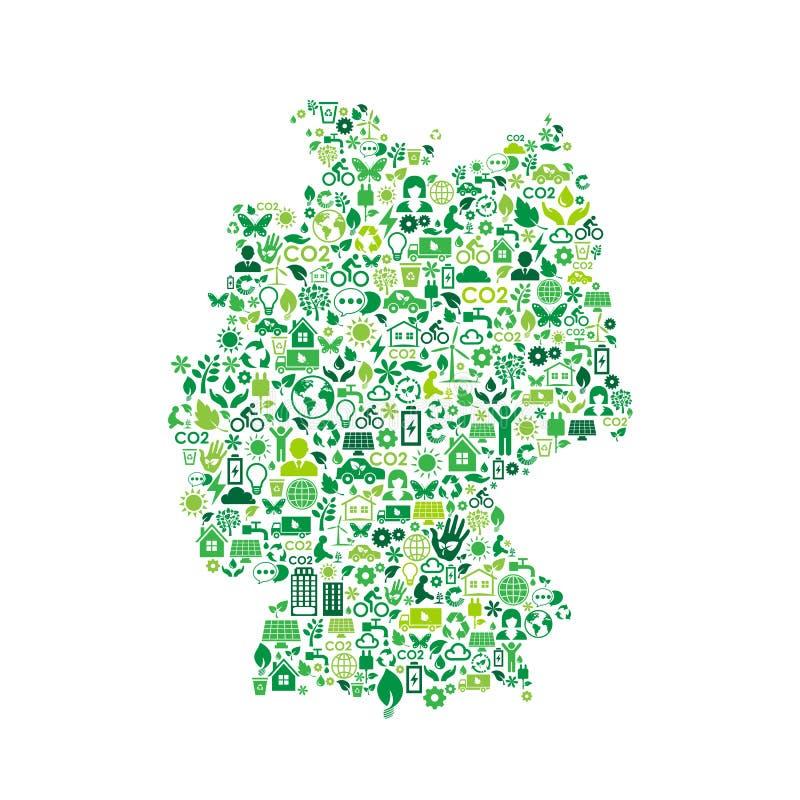 德国地图环境保护绿色概念象 库存例证