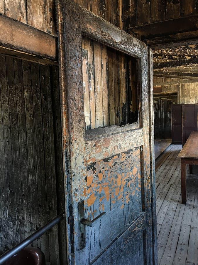 德国奥拉宁堡萨森豪森集中营宿舍室内 免版税库存照片