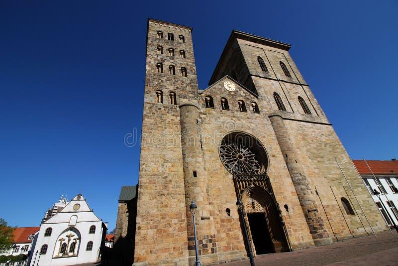 德国奥斯纳布吕克主教座堂 免版税库存照片