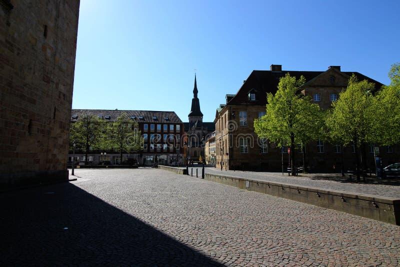德国奥斯纳布吕克大教堂广场 库存照片