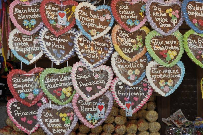 德国姜饼重点 免版税库存图片