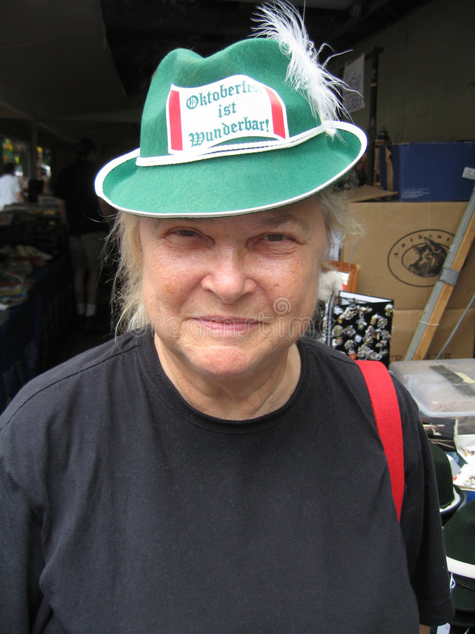 德国帽子妇女 免版税库存照片