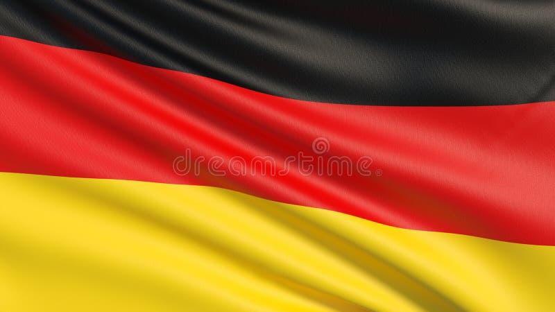 德国或德国旗子旗子  向量例证