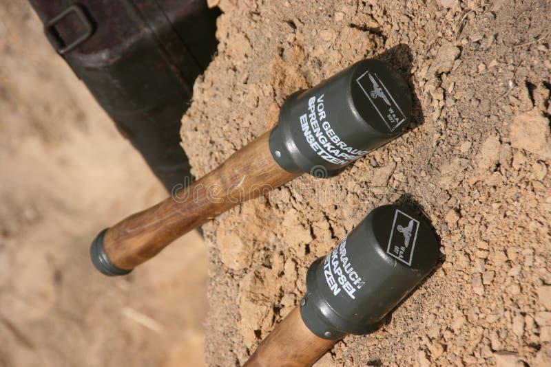德国手榴弹现有量 库存图片