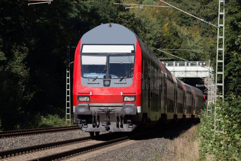 德国旅客列车 免版税图库摄影