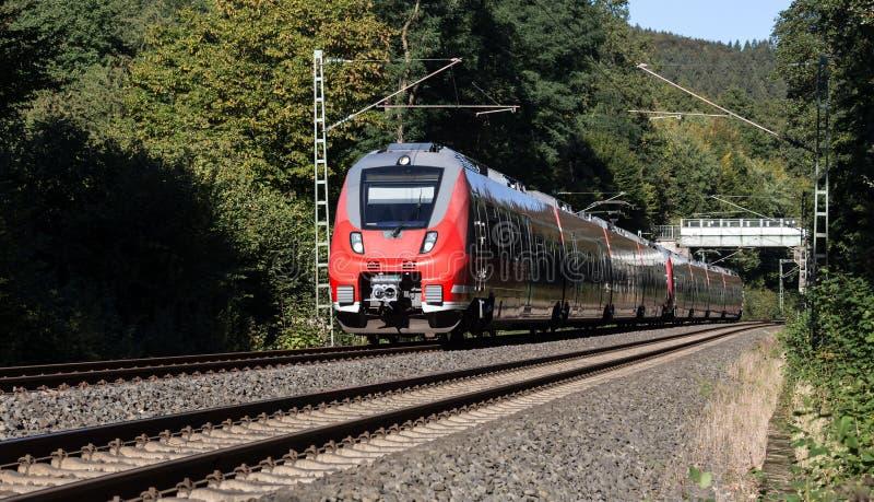德国旅客列车 库存照片