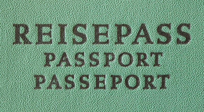 德国旅行护照 图库摄影