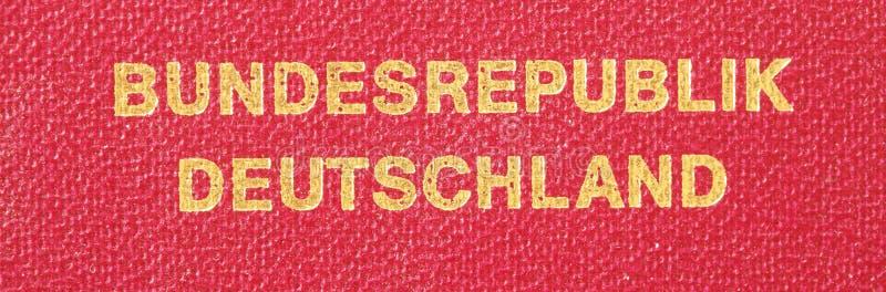 德国旅行护照 免版税库存图片
