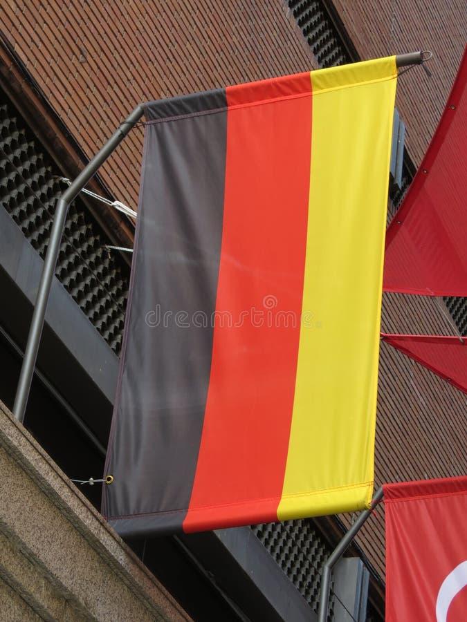 德国旗子漂浮 免版税库存照片