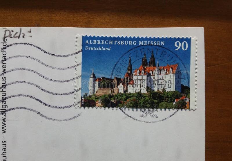德国明信片 免版税图库摄影